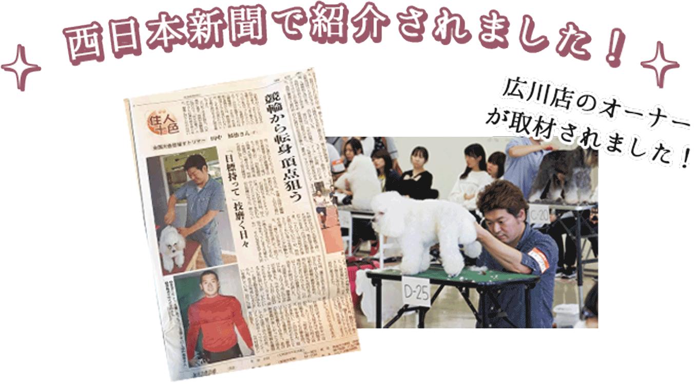 西日本新聞で紹介されました!